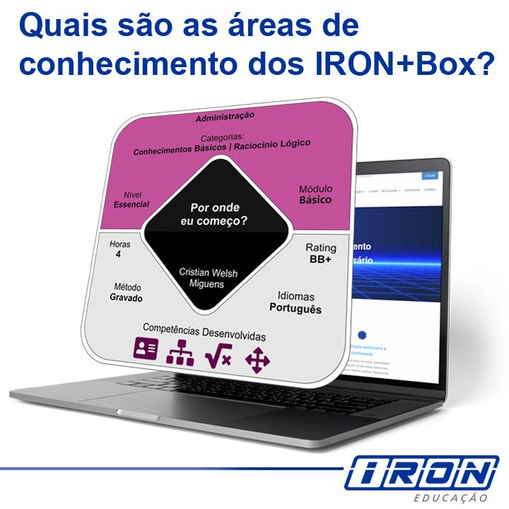 Quais são as áreas de conhecimento dos IRON+Box?